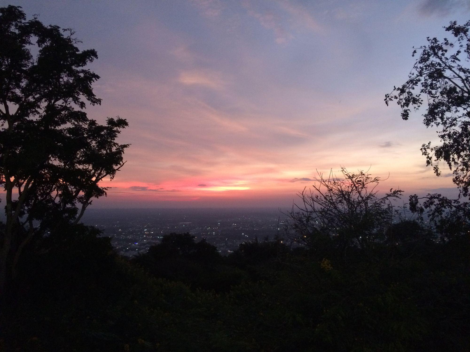 Sunset from Chamundi hills